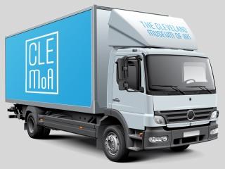 White box truck mockup